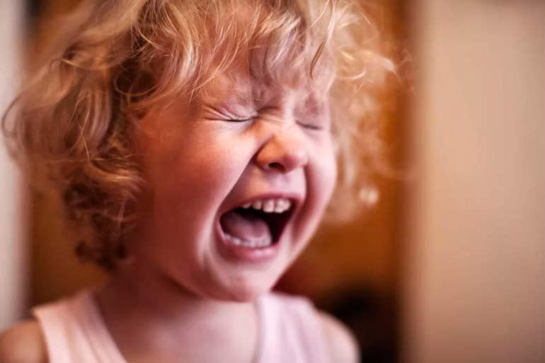 crise de colère chez un enfant